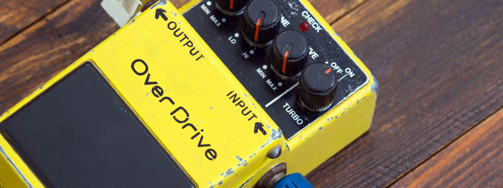 Boss OD-1 Overdrive pedal in Yellow